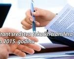 Obavijest - objava potencijalne Rang liste grant sredstava 2015.