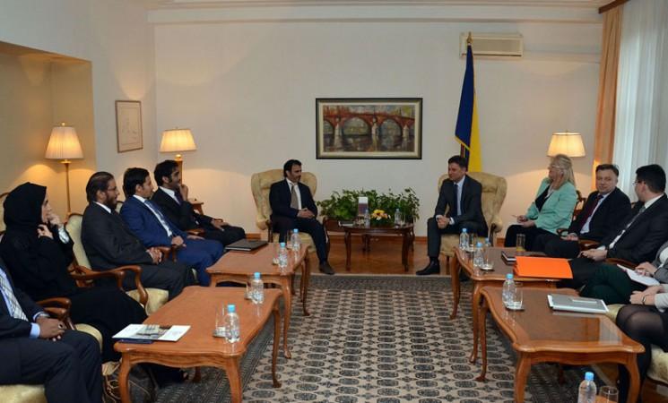 Ministar Zukić na sastanku s delegacijom Katarskog razvojnog fonda