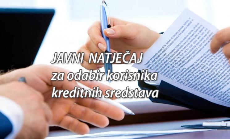 Javni natječaj - Kreditna sredstva u 2019. godini