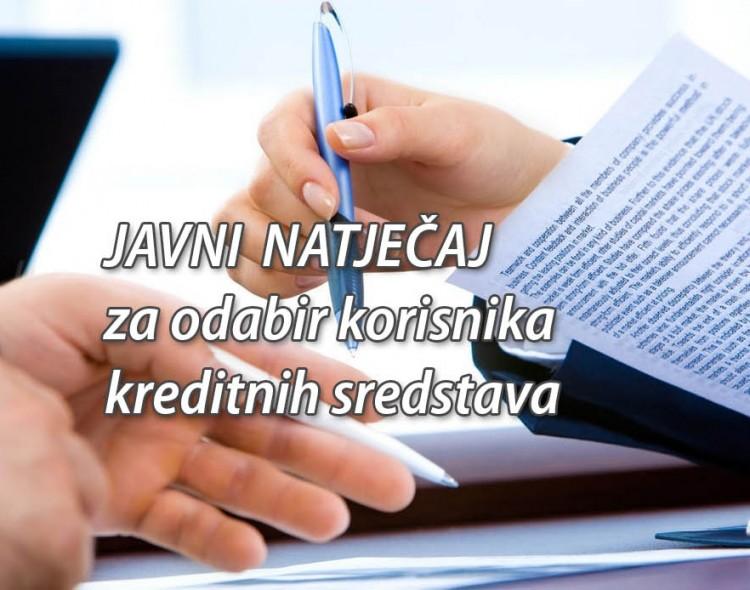 Javni natječaj za kreditna sredstva u 2019. godini